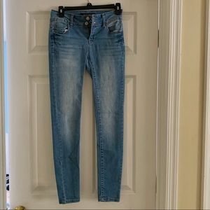 Blue light wash jeans worn once MADE IN USA
